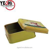 2015 Chinese factory promotion lovely cheap biscuit packaging tin box set