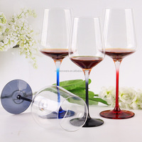 Decorative Glass Colored Stemware Elegant Parties Home Decoration Overlay Glass Hand Engraved Hand Cut Glass Stemware