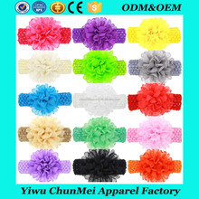 Baby Girl's Headbands Chiffon Hair Bow Wide Crochet big flower Headbands