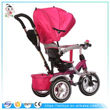 New model hot sale kids baby tricycle 3 wheel with super wide canopy tricycle / baby 4 in 1 trike