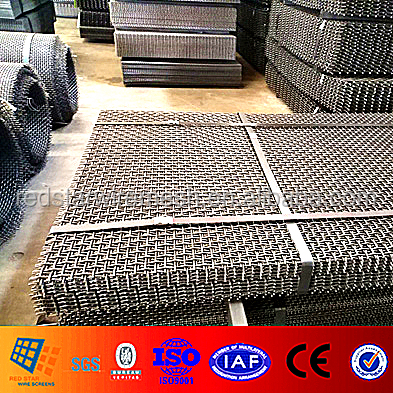 65MN Steel wire heavy duty crimped wire mesh for gravel and Gabbro Aggregates