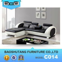 Comfort living space furniture leather sofa C014