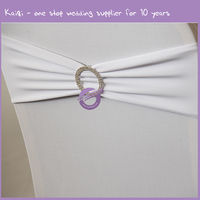 BS00378 wedding party elastic spandex chair bands with buckle