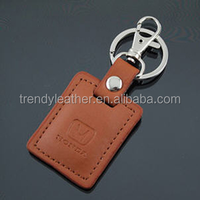 Genuine leather car key tag for promotion