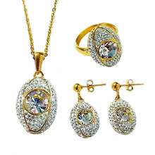 Olivia Rhinestone Indian Bridal Jewellery Sets Jodha Akbar Wedding Set With 18k Gold Plated