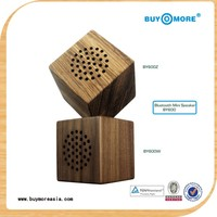 2014 new wood mini super bass portable speaker with usb charger