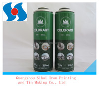 Diameter 57mm necked-in empty aerosol tinplate can for packaging industrial