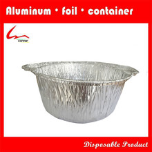 Disposable Party/Household Use Round Deep Aluminium Foil Food Pot With Lid