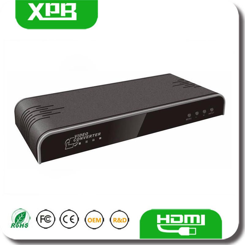 VGA To HDMI Audio Video Converter 5RCA/AV input