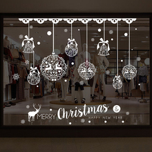 50X70cm Removable PVC Christmas Decorations Wall Window Door Clings Christmas Windows Stickers For Christmas Ornaments