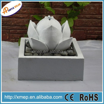 Concrete Garden Ornaments Bubble Feng Shui Solar Fountain
