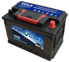 Hot sales 12v 66ah car battery maintenance free battery DIN66/56618/56633 Europe car brand battery