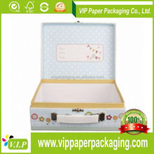 PAPER FOLDING GIFT BOX RECTANGLE FOLDING PAPER BOX PAPER CARDBOARD SUITCASE BOX WITH HANDLE