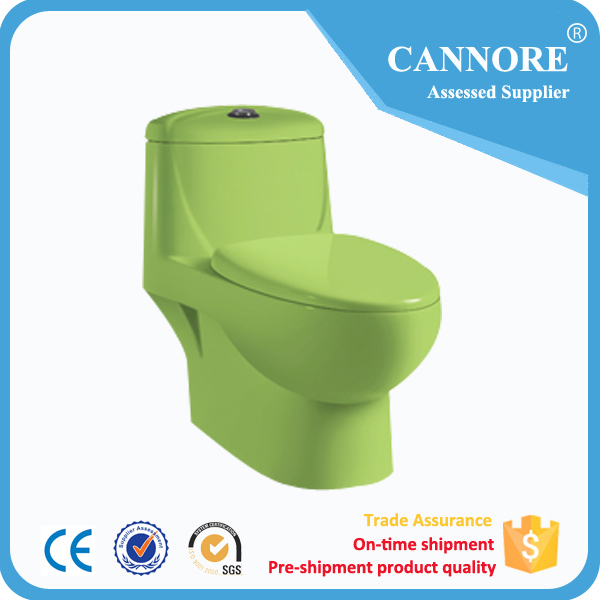 Chaozhou color one piece toilet 4inch washdown pink toilet
