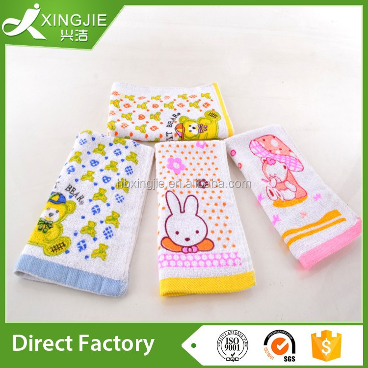 100% cotton cartoon printing terry baby towel