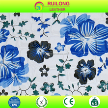 Plum blossom pattern leather fabric for dress bags and decoration