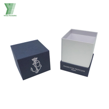 Custom logo luxury printed wax candle holder gift box candle packaging boxes