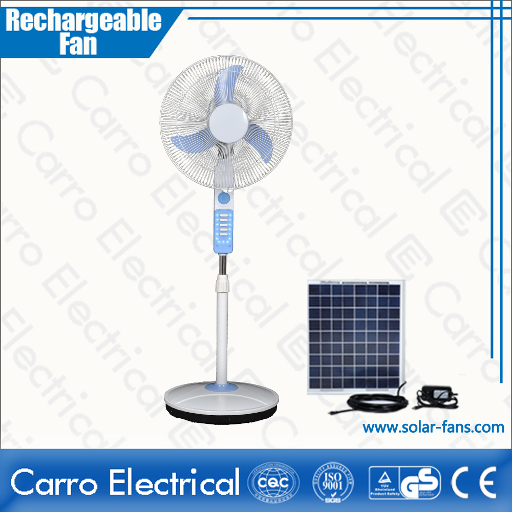 The good selling rechargeable solar fan 16inch 12V solar exhaust fans free standing