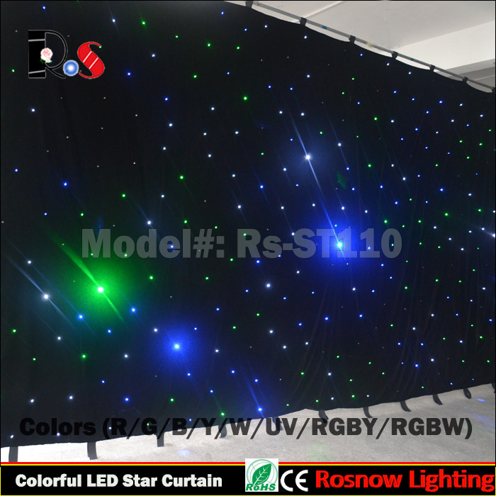 RGB 3in1 full color led pixel dj booth DMX video curtain for wedding shows