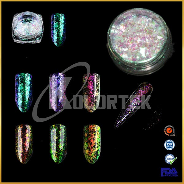 Clear Transparent Chameleon Nail Chrome Magic Flake, Beautiful Crystal Chameleon Flakies