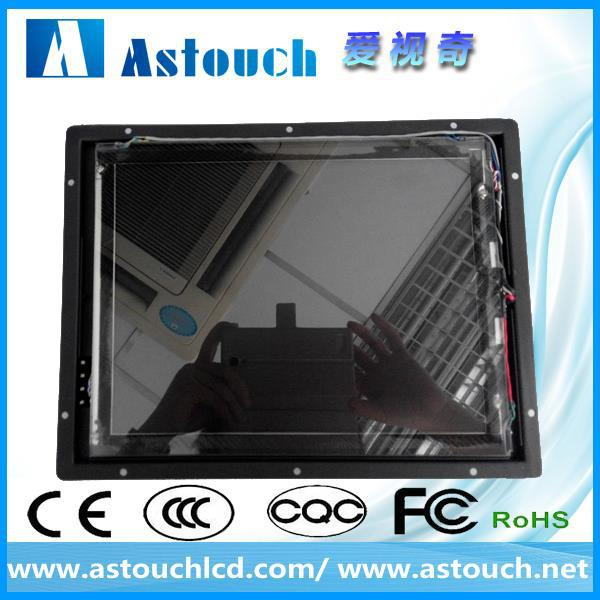 high resolution 12 inch elo open frame monitor with touchscreen with SAW touch screen