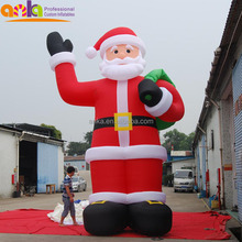 Giant inflatable standing Santa Claus figure