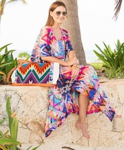 X82545B new designs woman Loose robe beach dress fashion chiffon maxi long dresses