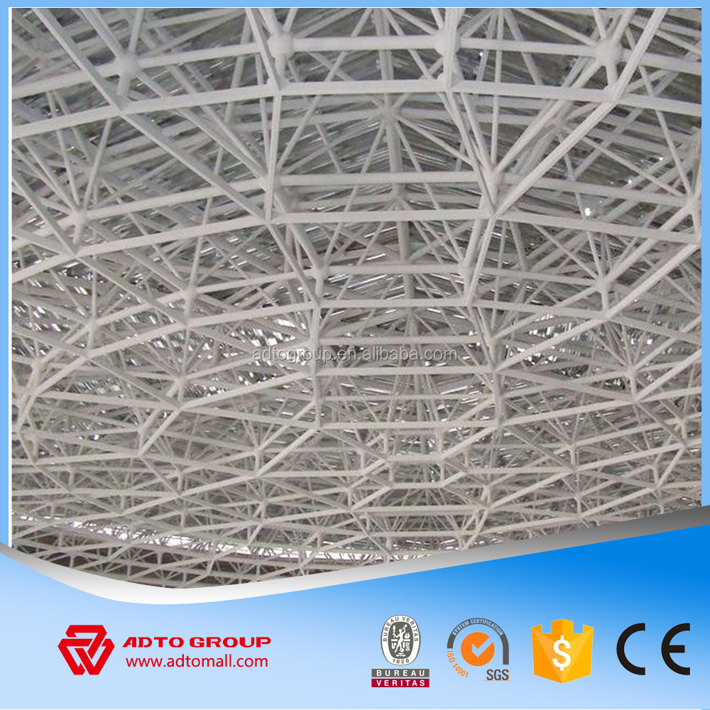 Struct Steel Bolted Frame : New light bolted joint steel space frame grid structure