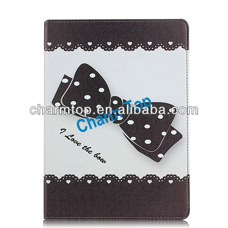 Bowknot Leather Stand Case For iPad Air iPad 5