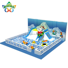snowy world indoor kids playground ball pool games with fence for festival,event