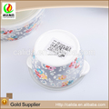 All kinds ceramic rice bowl wholesale flower decal eco-friendly porcelain bowl with lid