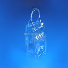 factory supply pvc wine cooler ice plastic bag