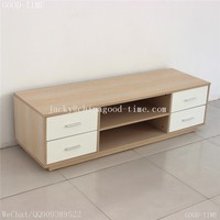 wooden grain melmained MDF particle board cheap large wooden tv stand pictures