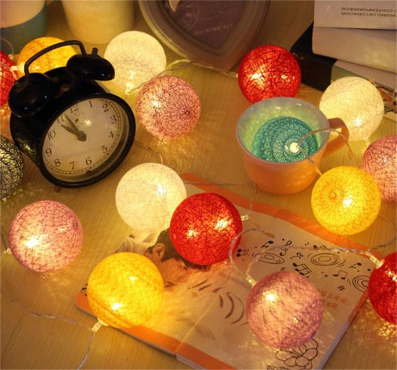 35 Big LED Cotton Ball Light Chandelier Luminarias Decor Navidad Lamp Boule Lumineuse Pendant String light with USB