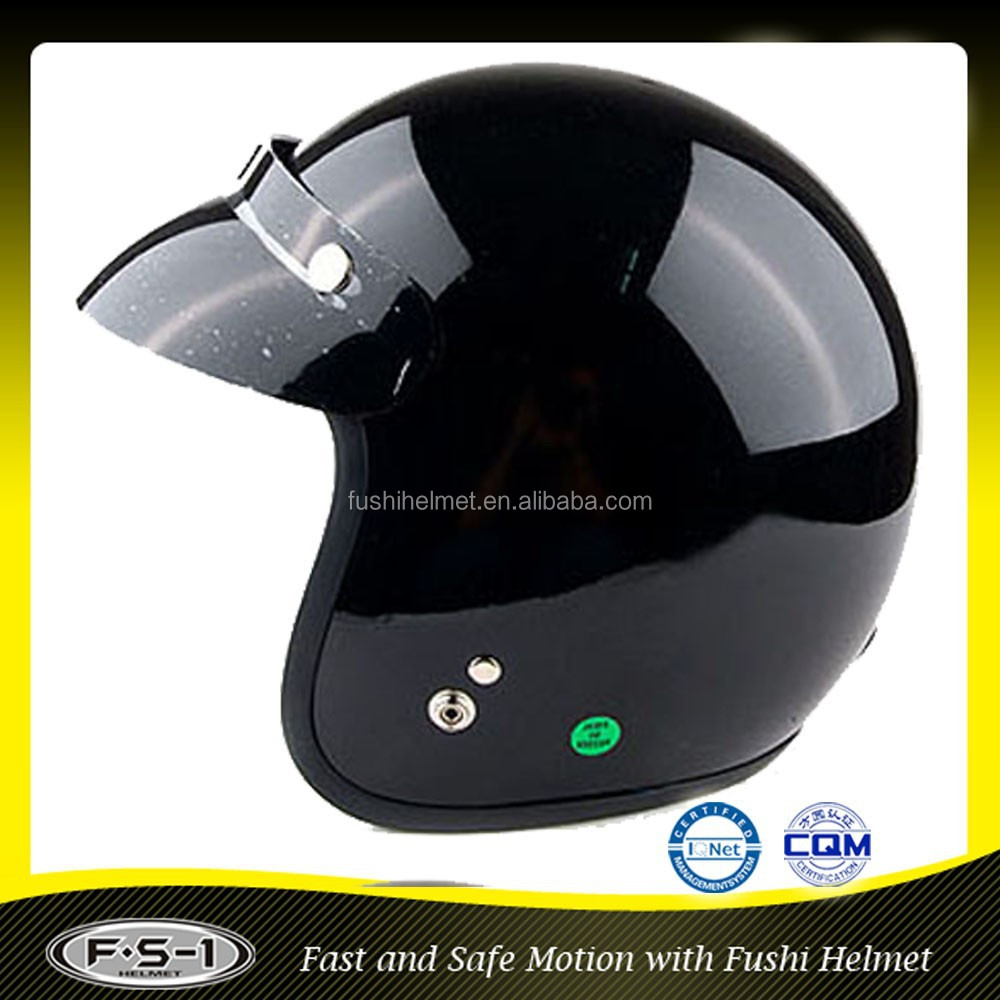 European style KPS safety black open face motorcycle helmet
