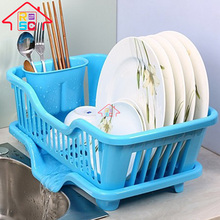 NBRSC plastic kitchen utensil holder sink dish drainer rack