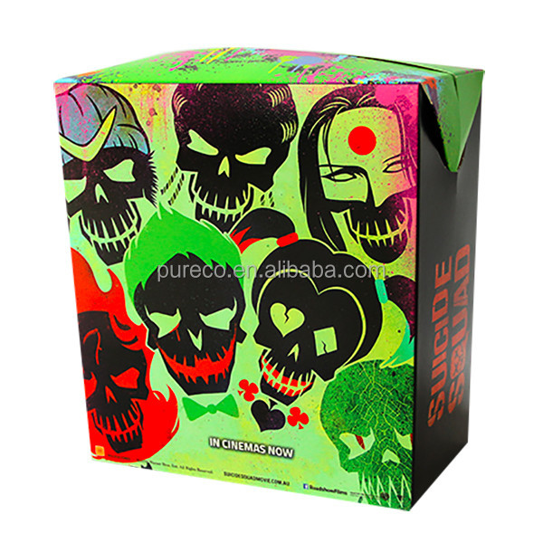 cinema concession movie film images printed paper packaging box for popcorn snack
