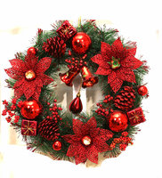 PET Decoratived Christmas Wreath Ornament Decoration PVC Wreath Christmas