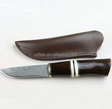 OEM Damascus classic collection ebony small hunting knife