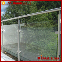 Balcony Pool Frameless Glass Stainless Steel Clamp