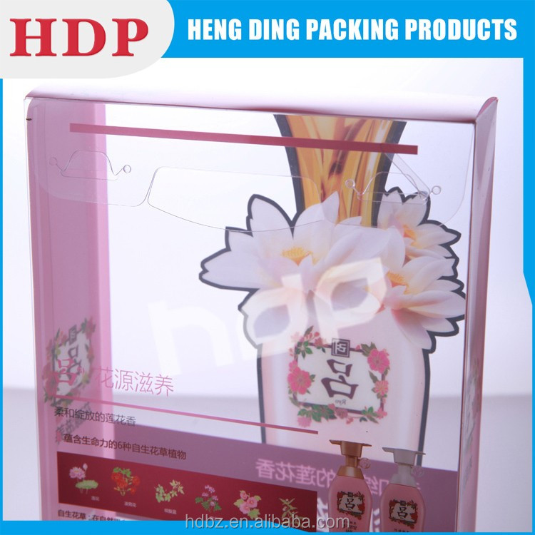 customizable printed plastic shampoo bottle packaging box
