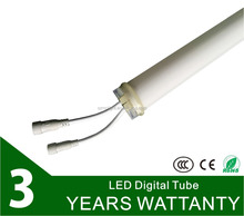 3 years warranty full color led digital tube waterproof CE ROHS