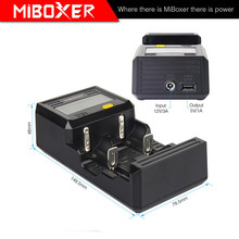 Miboxer C2-6000 Portable Battery Charger for Rechargeable Batteries and Power Bank for Mobile phones