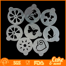 Plastic Coffee Stencils Chocolate and Cookie Decoration Color White