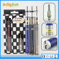 kingfish product 1.5ohm atomizer evod twist 3 m16 cigarro electronico ego-t with factory price