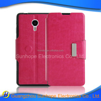tpu pu leather wallet case flip cover for MEI ZU m3 note case