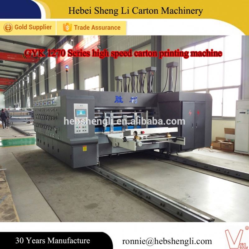 high speed flexo printing machine corrugated automatic carton printer slotter die-cutter