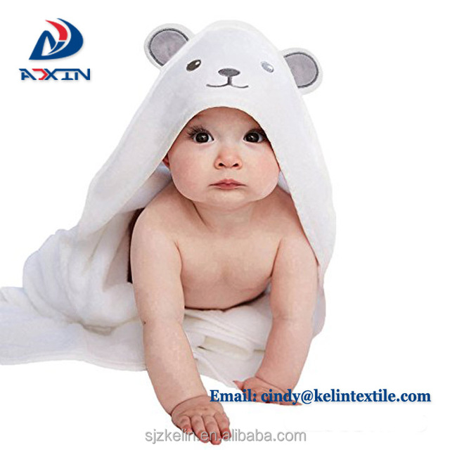 Alibaba wholesale 100% bamboo fiber baby hooded towel set with ear