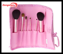 Pink makeup brush set 6 pcs beauty color vegan nylon,Beauty tool free samples