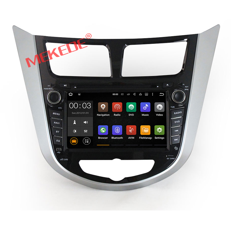 2 Din 1024*600 Car DVD Player For Hyundai Solaris Verna accent Android 6.0 2G RAM 16G ROM